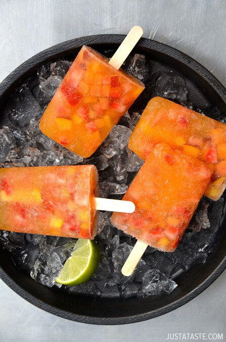 Peach Sangria Popsicles Recipe