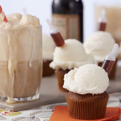 Tipsy Root Beer Float Cupcake Recipe