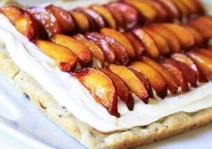 No-Bake Peach Mimosa Cheesecake Bars Recipe