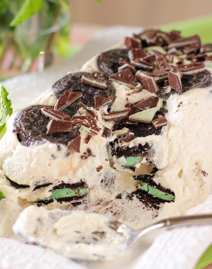 Baileys Mint Oreo Icebox Cake Recipe
