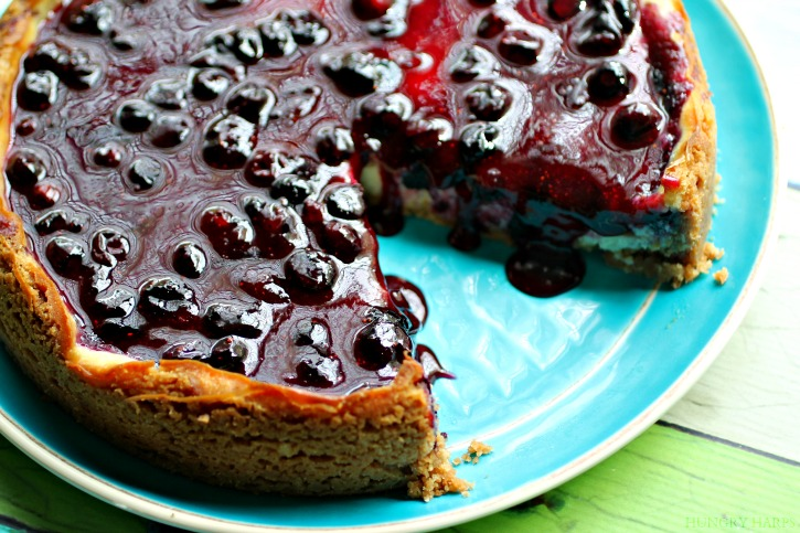 Boozy Blueberry Cheesecake Recipe