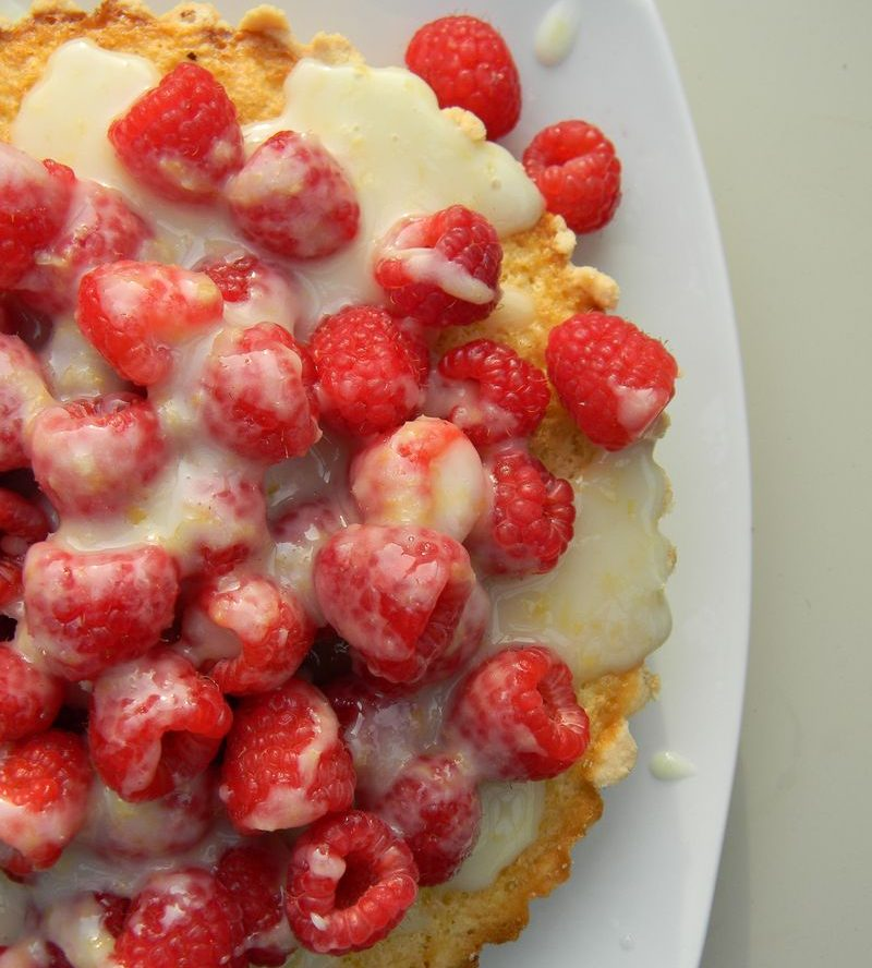 Fresh Lemon Tart with Limoncello Marinated Raspberries Recipes