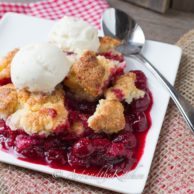 Jack Daniel's Sour Cherry Cobbler Recipe