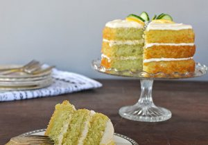 Lemon and Cucumber Cake with Gin Icing Recipe