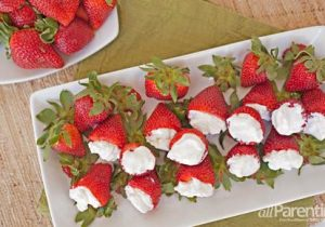 Strawberries Filled with Boozy Whipped Cream Recipe