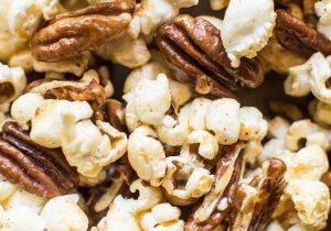 Bourbon Paprika Pecan Popcorn