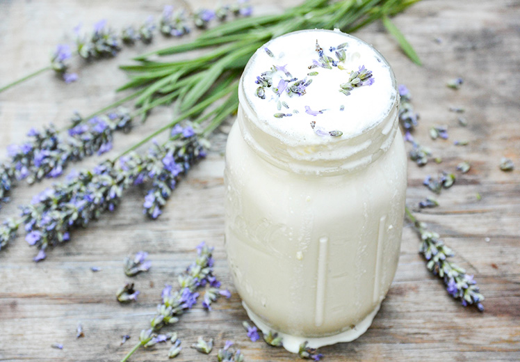Lavender and White Chocolate Boozy Milkshake