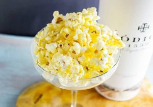 Margarita Glazed Boozy Popcorn