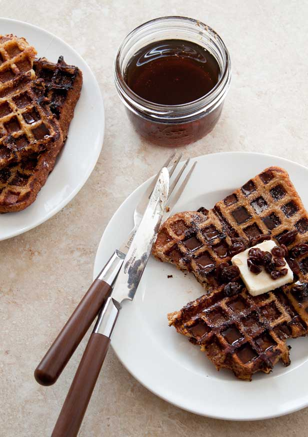 Rum Raisin Waffled French Toast