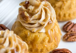 Sweet Potato Bourbon Mini Bundt Cakes