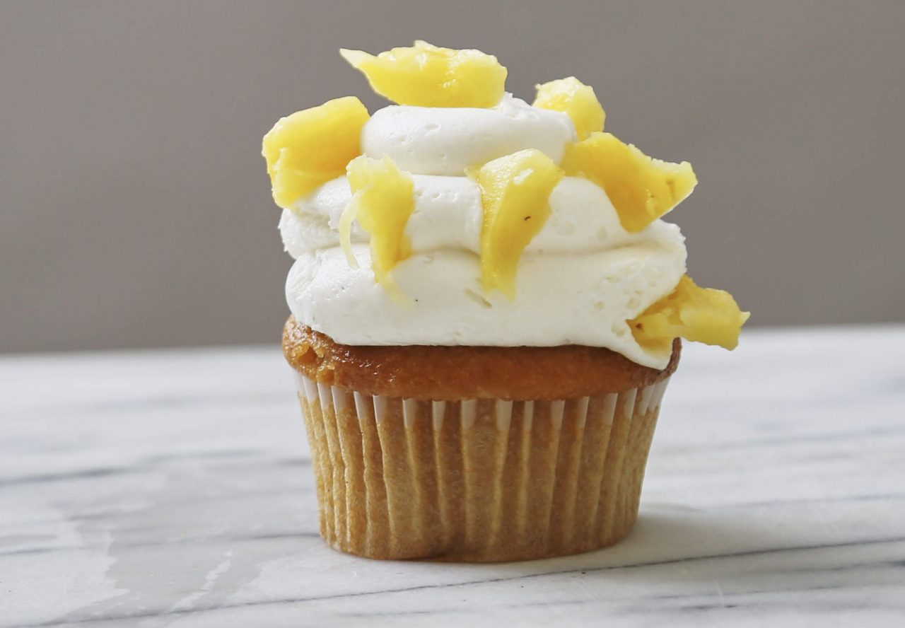 Vodka Spiked Mango Pineapple Cupcakes