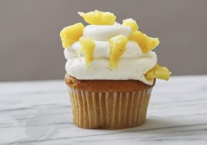 Vodka Spiked Mango Pineapple Cupcakes