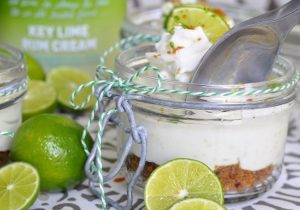 Boozy No Bake Key Lime Pie Cheesecake