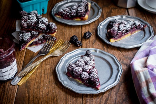 Bourbon and Blackberry Jam Bars