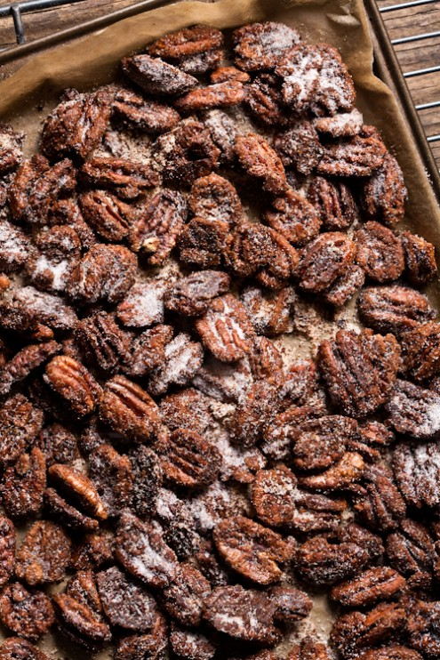 Bourbon Kissed Spicy Pecans