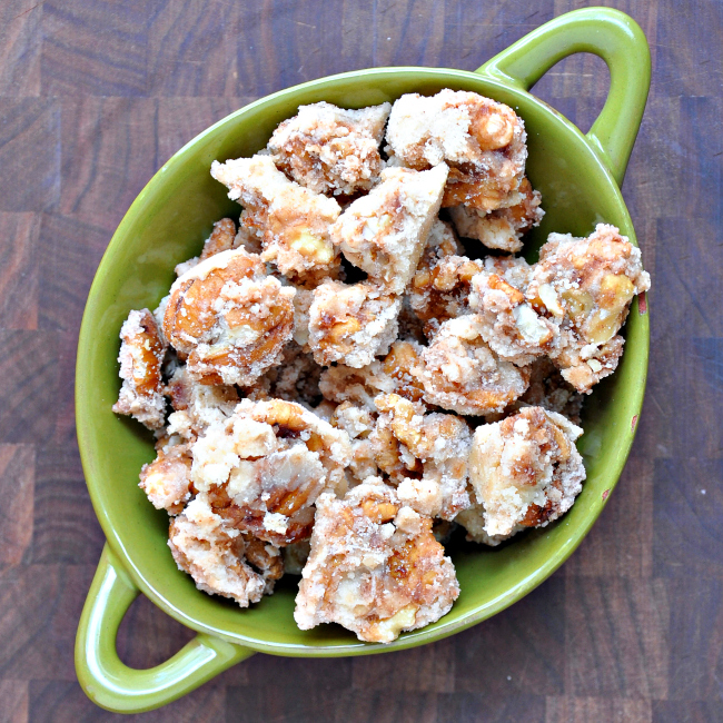Bourbon Sugared Pecans and Walnuts