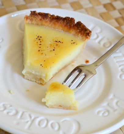 Bourbon and Vanilla Bean Custard Pie