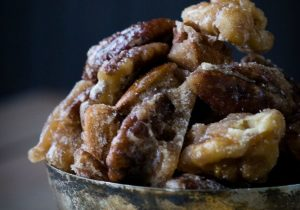 Candied Fireball Whiskey Nuts