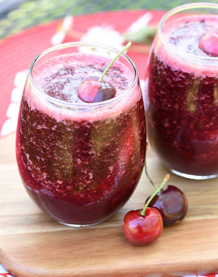 Cherry Vanilla Wine Slushies