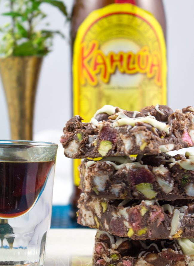 Kahlua Rocky Road Fudge