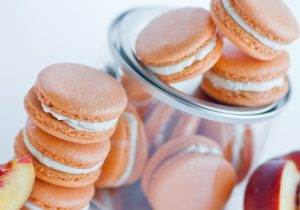 Macarons with Champagne and Peach Buttercreme