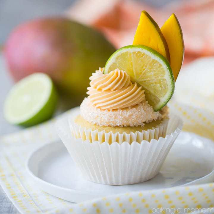 Mango Margarita Cupcakes
