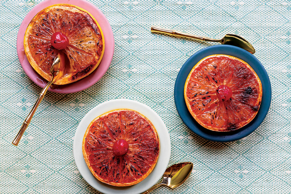 Rum Broiled Grapefruit