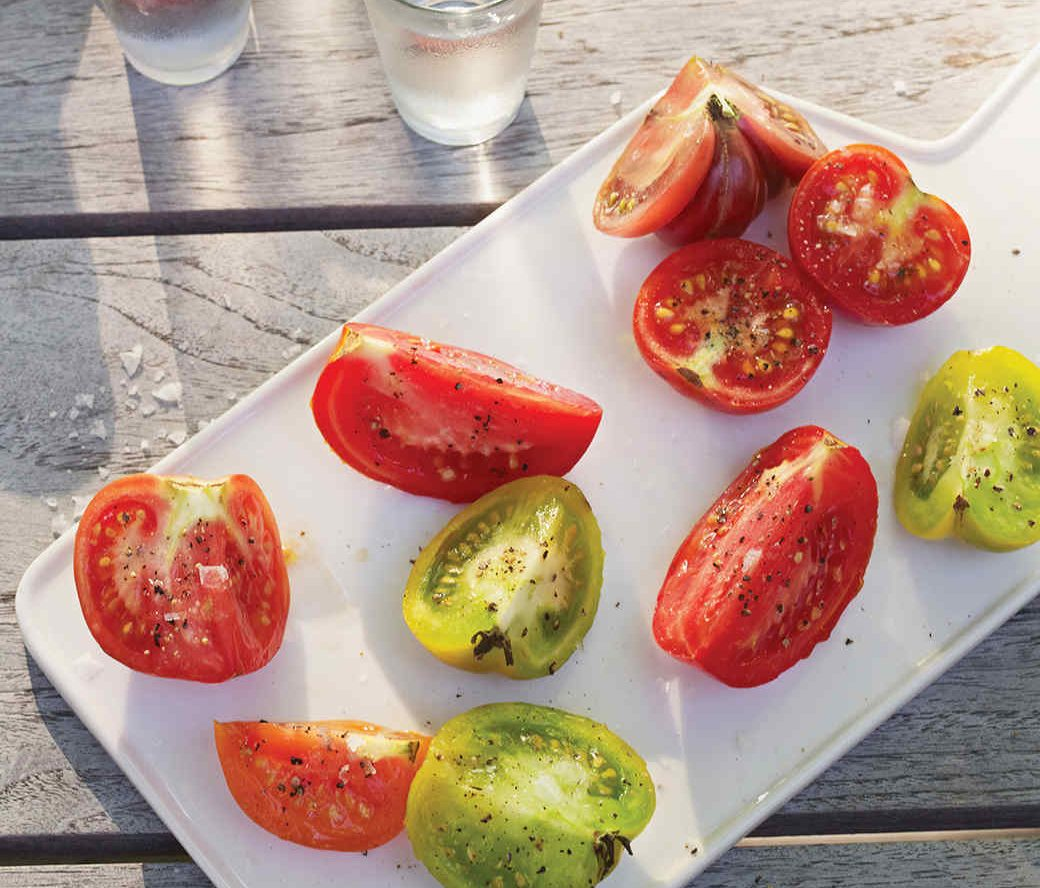 Tomato Wedges with Vodka