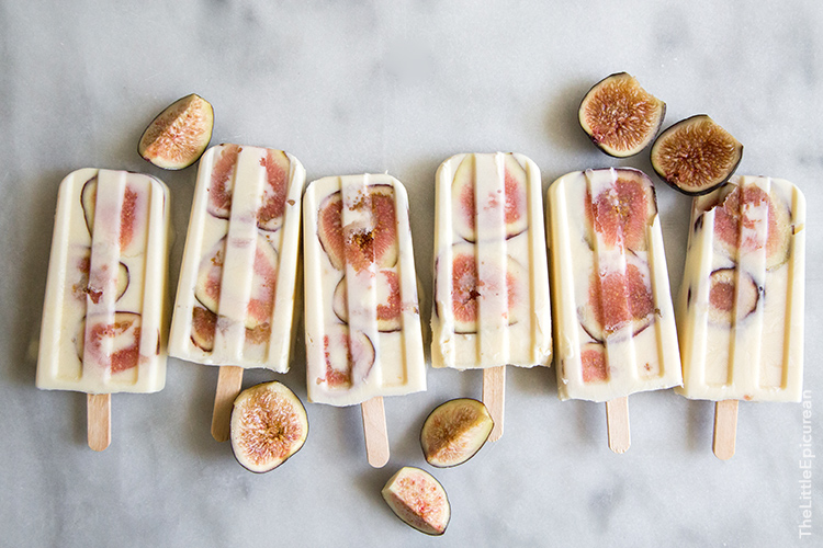 Whiskey Yogurt Fig Popsicles