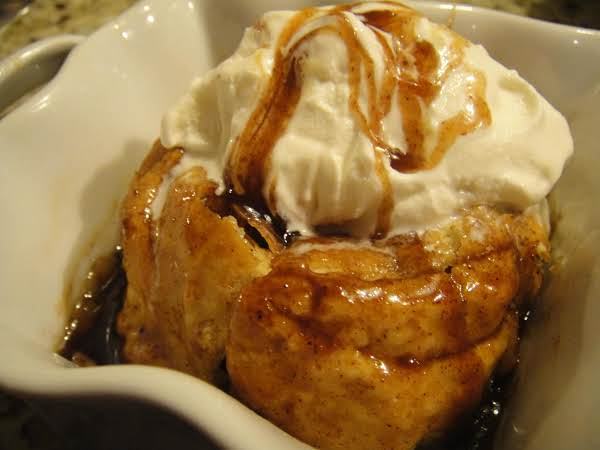 Apple Dumplings with Spiced Bourbon Caramel Sauce
