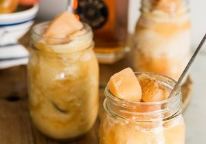 Boozy Bourbon Apple Cider Slushie