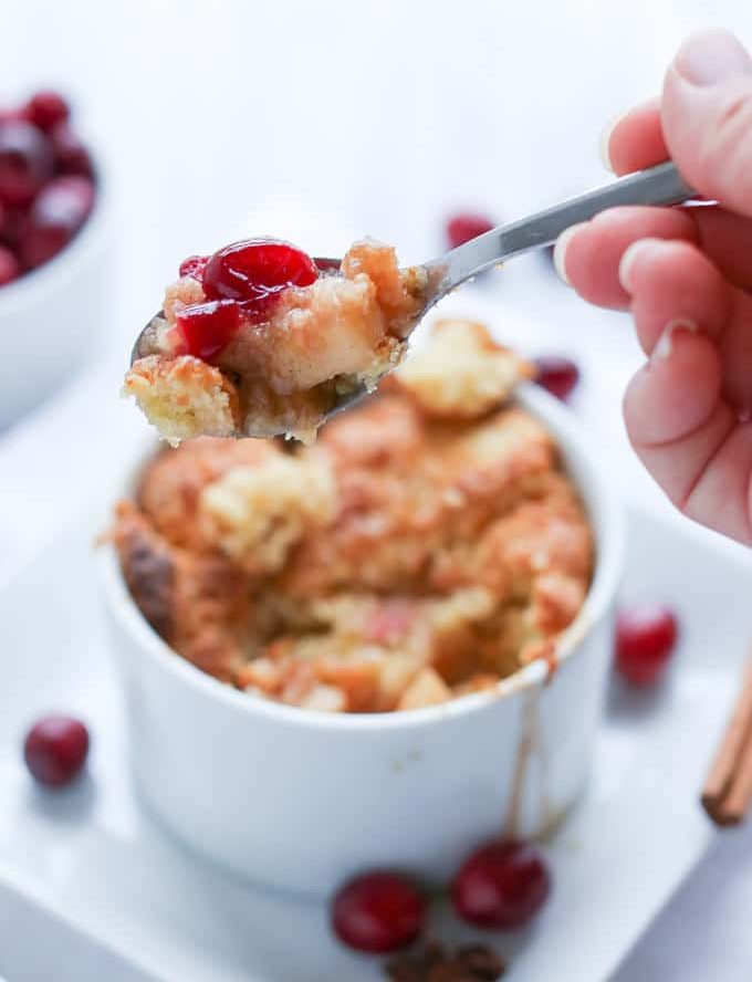 Bourbon Apple Cranberry Cobbler