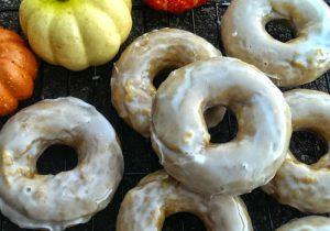 Rumchata Glazed Pumpkin Donuts