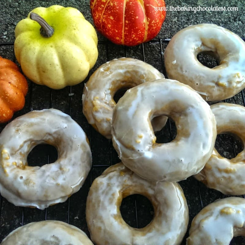 Rumchata Glazed Pumpkin Donuts