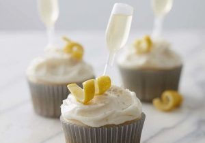 French 75 Champagne Cupcakes