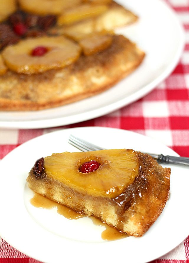 Pineapple Rum Upside Down Cake