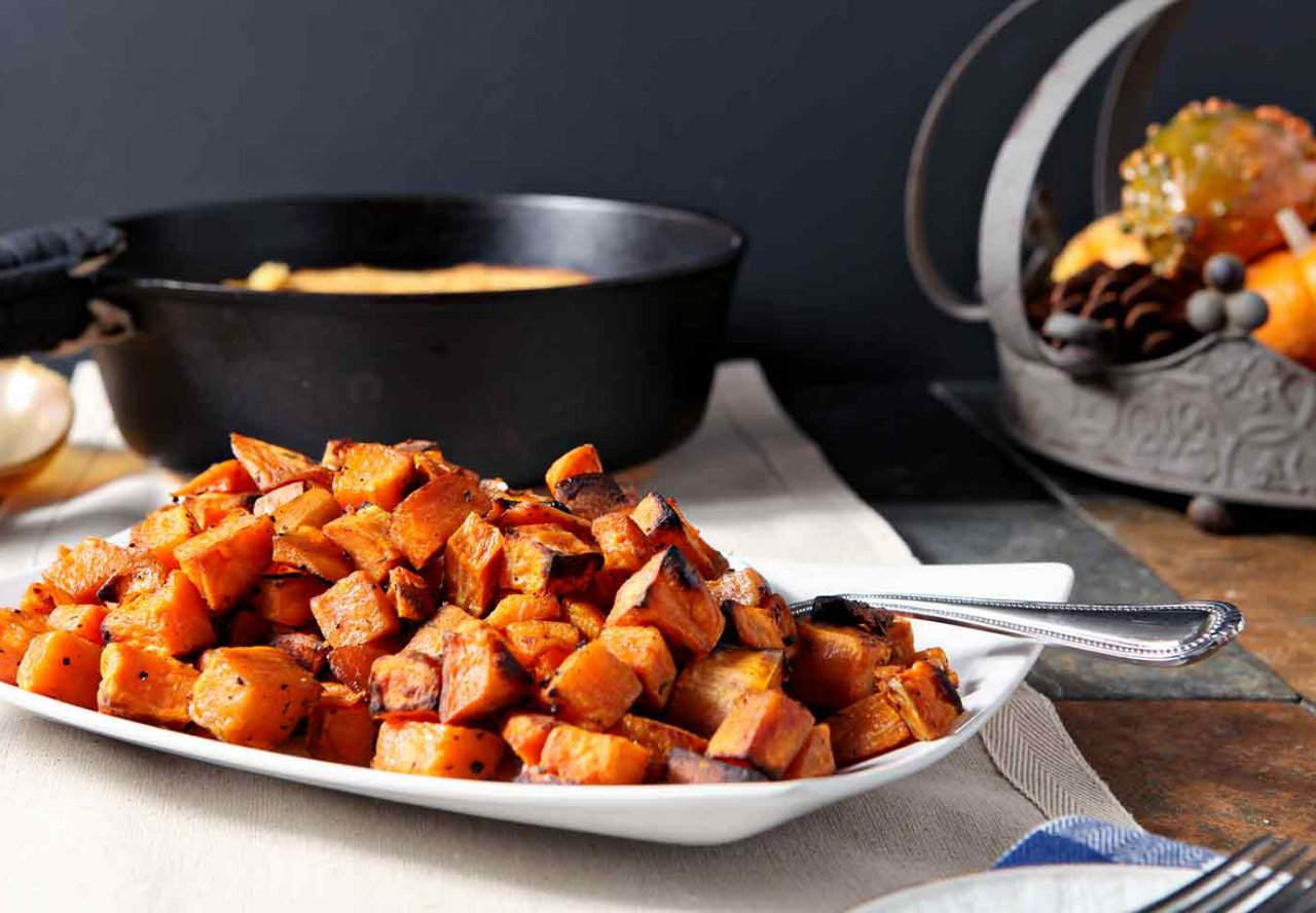 Bourbon Butter Sweet Potatoes
