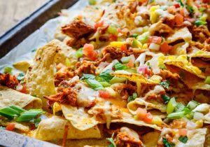Tequila Barbecue Chicken Nachos