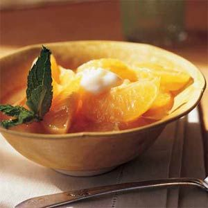 Jeweled Clementines with Vanilla Sauce
