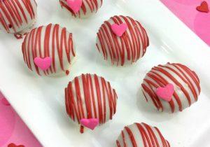 Boozy Red Velvet Cake Balls