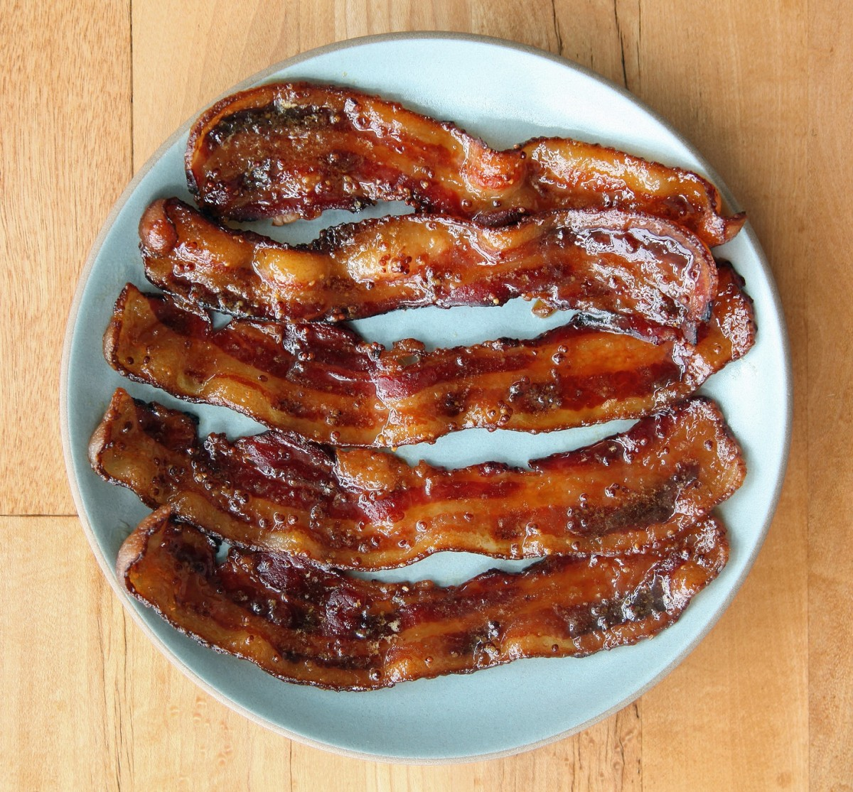 Beer Glazed Bacon