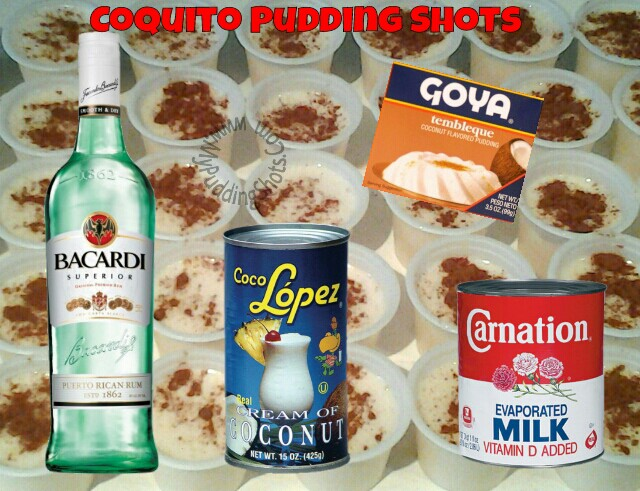 Coquito Pudding Shots Recipe