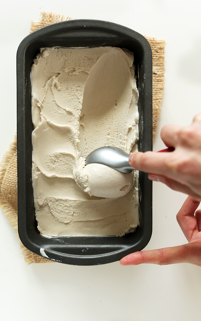 Bourbon Caramel Ice Cream - Vegan Recipe