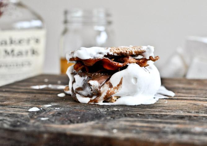 Bourbon Bacon Marshmallow Smores Recipe