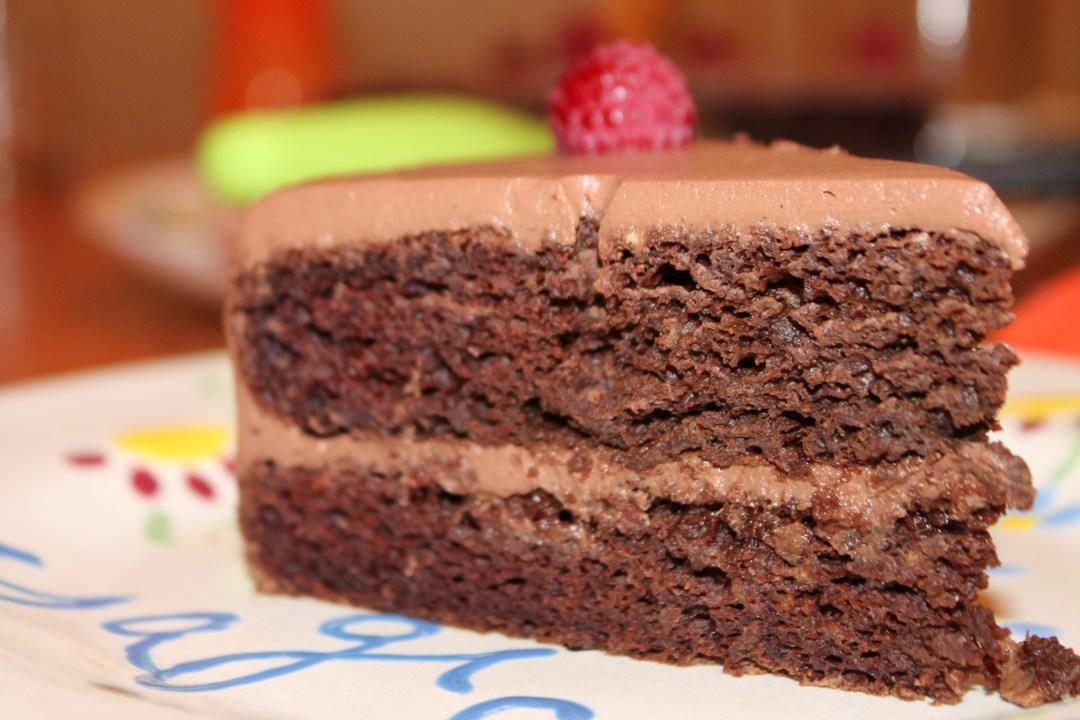 Chocolate Rum Layer Cake - Vegan Recipe