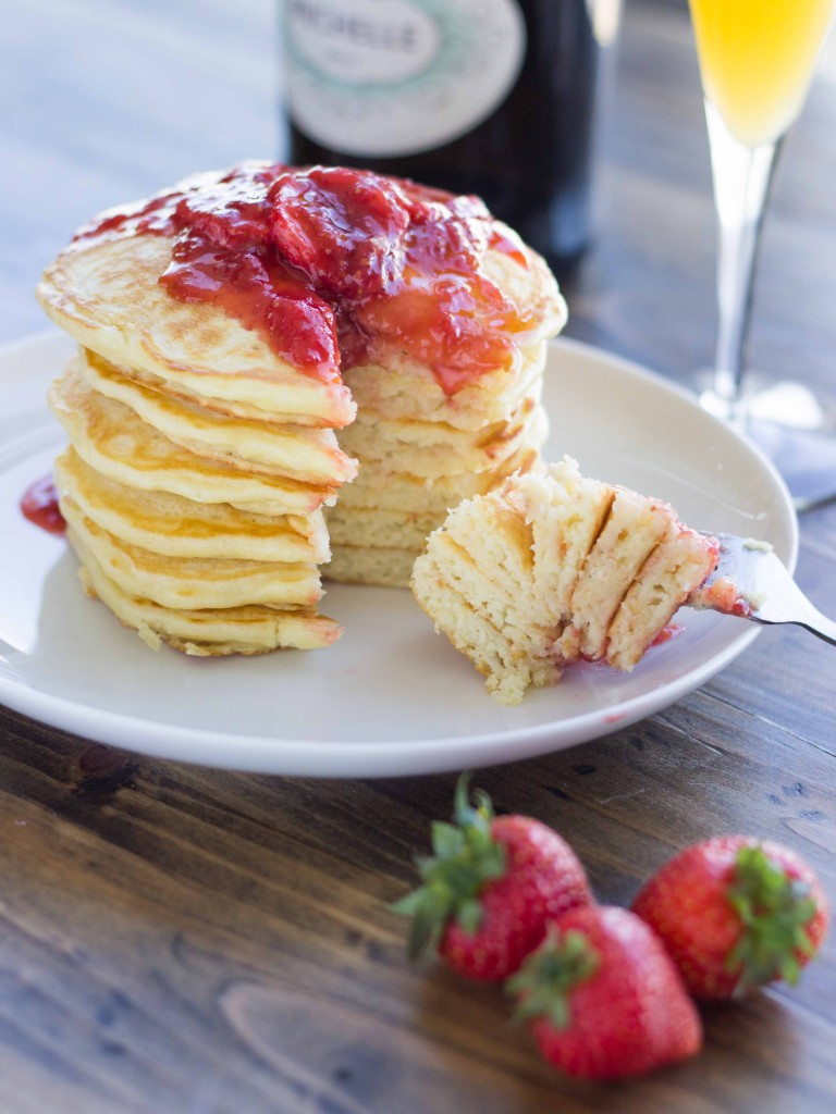 Strawberry Champagne Pancake Recipe