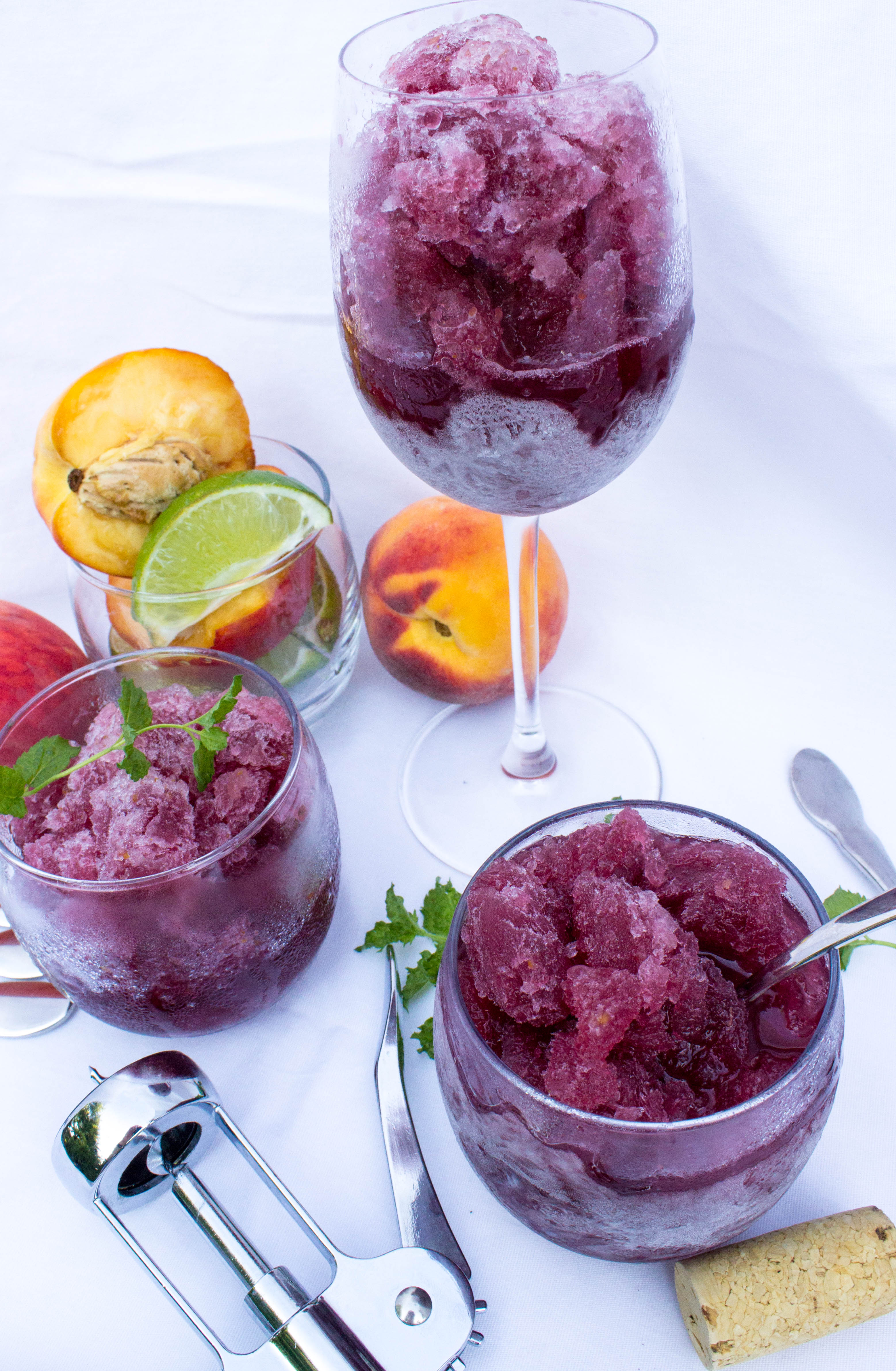 Peach Sangria Granita Recipe