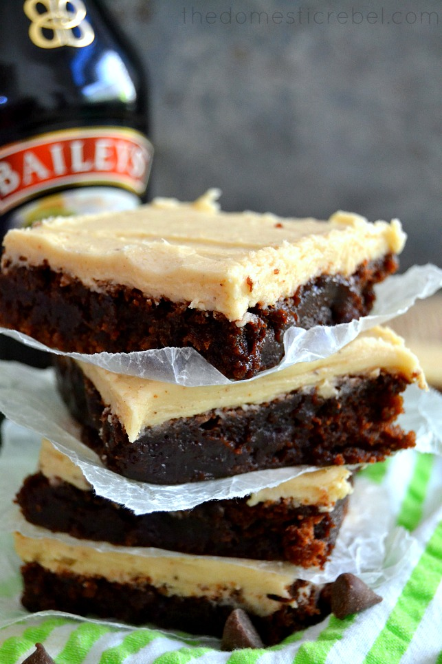 Baileys Brown Butter Frosted Brownies Recipe