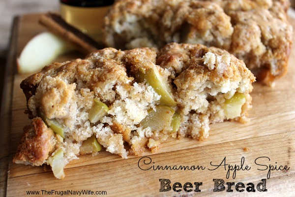 Cinnamon Apple Spice Beer Bread Recipe