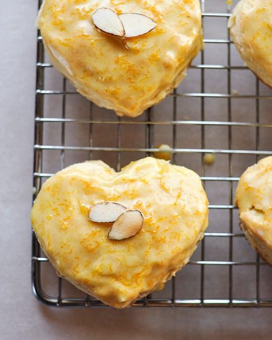 Almond Scones with a Grand Marnier Glaze Recipe